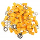 20PCS 4-6mm? Yellow Ring Heat Shrink Electrical Terminals Connectors