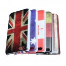 Retro Vintage Multi National Flag Series Hard Back Case For iPhone 5C