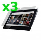 3x Clear Screen Guard Protector Shield Film Skin For Sony S S1 Tablet
