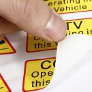 6PCS Car Taxi Sticker Signs Decal CCTV Operating In This Vehicle