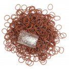 600Pcs Candy Color Loom Rubber Bands DIY Bracelet Craft With Clips
