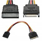 SATA 15 Pin Male To Female Power Converter Adapter Extension Cable