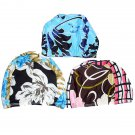 Men Women Polyester Soft Spandex Patterned Swimming Bathing Cap