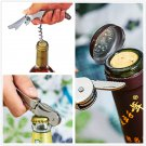 Multifunctional Stainless Metal Corkscrew Wine Beer Bottle Opener 7 Colors