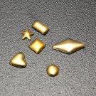 300pcs 3D Metal Alloy Heart Star Nail Art Design Decorations