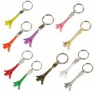 1PC Car Auto Key Rings Mini Eiffel Tower Keychain Multi-Colors
