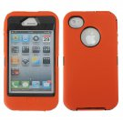 Heavy Duty Tough Impact Hybrid Hard Case Silicone Cover For iPhone 4S