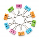 10X Smiling Office 19mm Width Metal Binder Clips File Paper Organizer