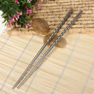 One Pair Stylish Stainless Steel Chopsticks Environment