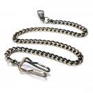 Unisex Alloy Vintage Bronze Quartz Pocket Watch Necklace Chain