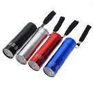 9 LED Pocket Torch Flashlight Camping Light Lamp AAA