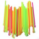 50Pcs Plastic Drinking Spoon Straws for Ice Cream Smoothie Juice