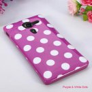 Polka Dots Pattern TPU Gel Silicone Cover For Sony Xperia SP