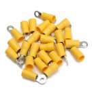 25pcs Yellow Rubber PVC Terminals Insulated Ring Connector 4.0-6.0mm?