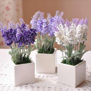 10 Head Bouquet Beautiful Artificial Lavender Silk Flowers