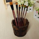 6pc Nylon Artists Paint Brush Brushes Oil Watercolor Painting