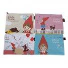 Korea Canvas Cartoon Hood Storage pencil Pouch Bag Makeup Bag New