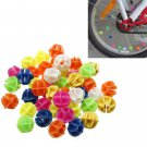 45 Pcs Bike Bicycle Wheel Spoke Beads Decor Colorful Refelector
