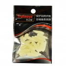 20Pcs Maggot Grub Fishing Soft Lure Glowing Bait Worm with smell