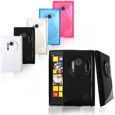 S-Line Soft TPU Gel Silicone Back Case For Nokia Lumia 1020