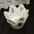 50pcs Christmas Petal Muffin Cupcakes Paper Cakes Baking Cups
