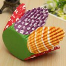 50pcs Mixed Petal Muffin Cupcake Paper Baking Liners Cups