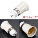B22 to E27 Base Screw LED Lamp Bulb Holder Adapter Socket Converter
