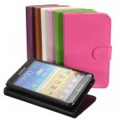 Flip Stand Wallet PU Leather Case For Samsung Galaxy Note II N7100
