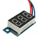0.36 Inch Digital Voltmeter 0 - 200V Voltage Meter Gauge LED Panel Meter 3 Wire