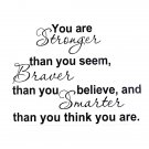 You Are Stronger Than You Believe Inspiration Quote Wallpaper 8061