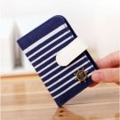 Women Canvas Navy Style ID Credit Card Bag Girls Coin Bags Purse