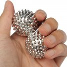 Silver Round Hand Body Acupressure Magnetic Spiky Massage Ball