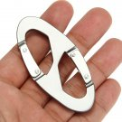 Aluminum Carabiner Snap Clip Hook Keychain Hiking Bottle Buckle