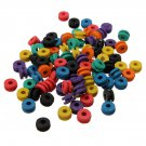 100 Mix Colorful Rubber Grommets Nipples Tattoo Machine Needles