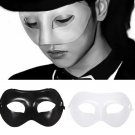 Black White Plastic Venetian Masquerade Half Face Eye Mask Unisex