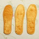 Women Man Fluffy Sheepskin Shoe Boots Insoles Inserts Pad Cushion Warm