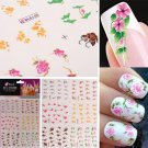 3D Colorful Flower Water Transfer Nail Stickers