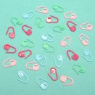30pcs Plastic Knitting Crochet Locking Stitch Marker Holder Clip