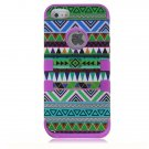 Tribal Combo Rugged Rubber Matte Hard Case Cover For iPhone 5