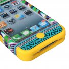 3-Piece Tribal Pattern Silicone Rubber Hard Case Cover For iPhone 4 4S