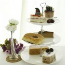 Zinc Alloy Heart-shaped Fruit Bowl Cake Plate Stand
