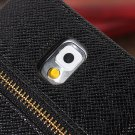 Zipper PU Leather Card Wallet Case For Samsung Galaxy Note 3 N9000