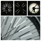 12 Pcs Bicycle Wheel Spoke Reflector Reflective Mount Clip Tube