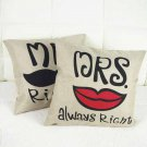 Creative Lovers Pillow Case Bed Sofa Car Linen Pillowcase