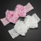 Baby Headband Cute Baby Girl Kid Infant Flower Pearl Lace Hairdress