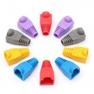 50X RJ45 Crimp Connector Rubber Boots Network Cable Ends Plugs