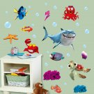 Undersea World Shark Fish 3D Cartoon DIY Decor Wall Sticker