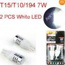 White Car LED T15/T10/194 7W Cree Q5 Single Filament Light Bulb Lamp