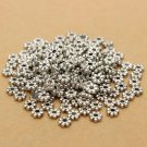 200pcs Tibetan Silver Daisy Spacer Metal Beads Jewelry Making