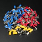 100PCS Piggyback Spade Crimp Terminal Connector 0.5-6.0mm? 10-22AWG